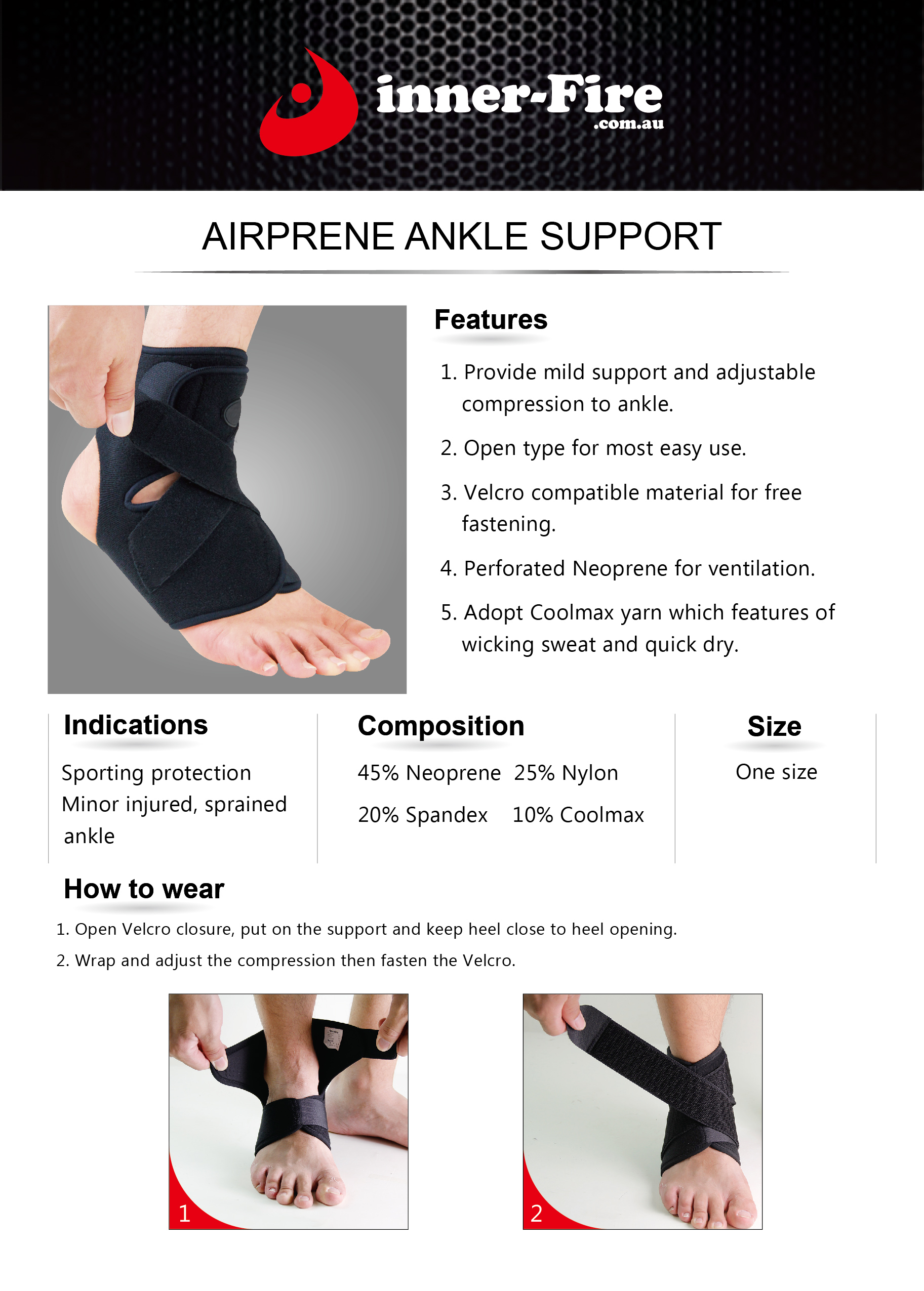 ankle brace instructions