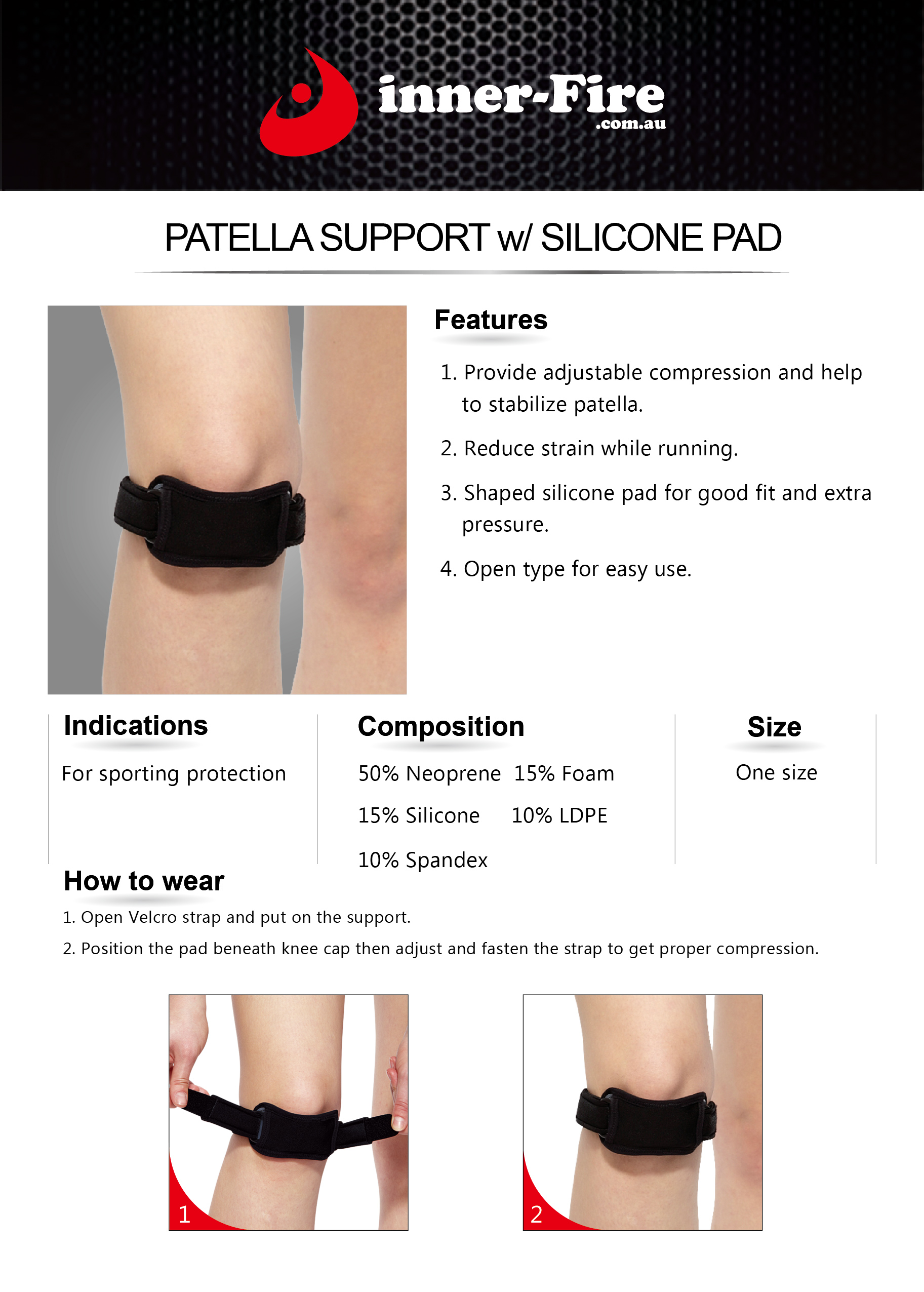 knee strap instructions