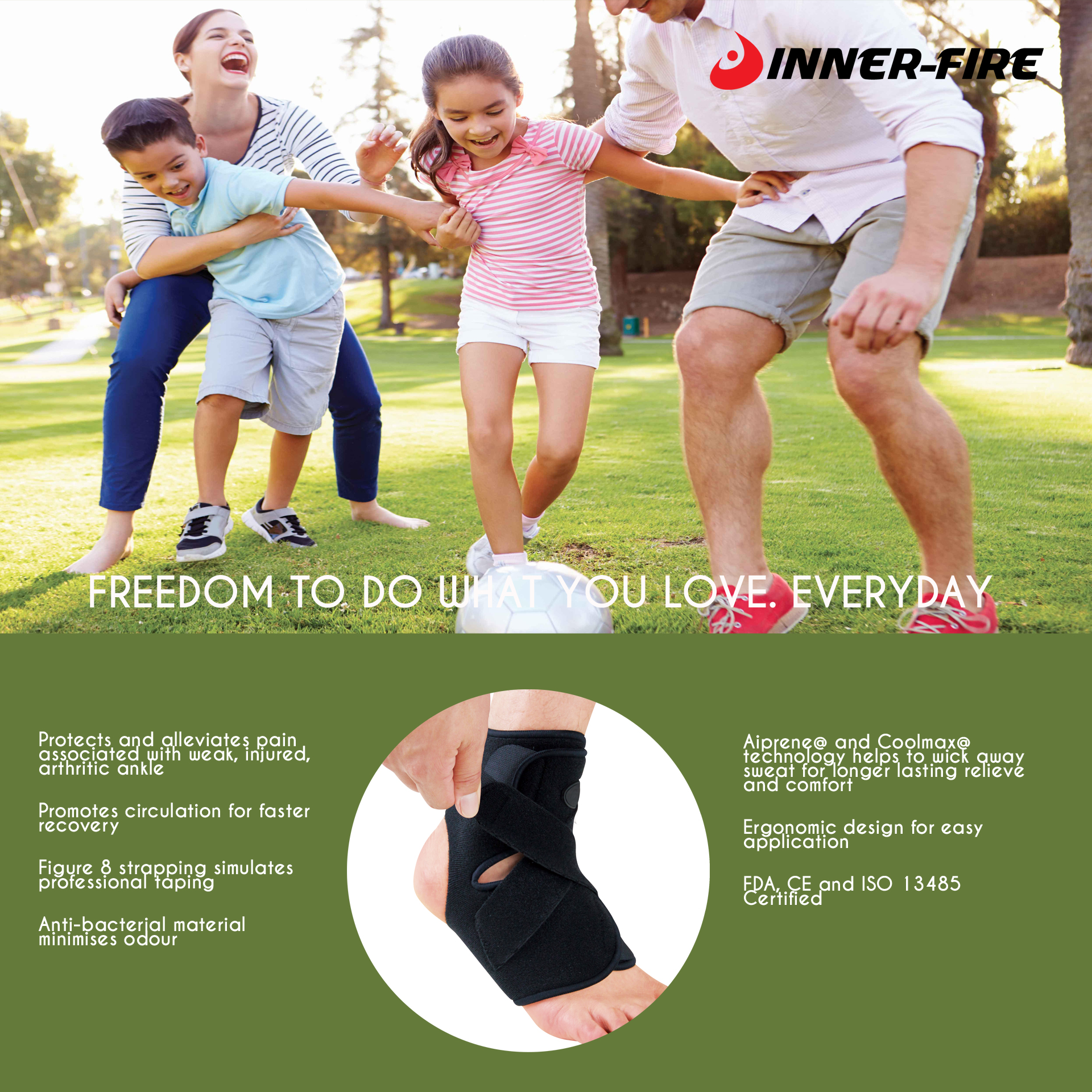 Inner-Fire Advanced Ankle Brace